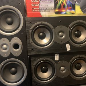 Polo Audio Center Channel + Bookshelf Speakers. Affordable Hifi. for Sale in Baton Rouge, LA