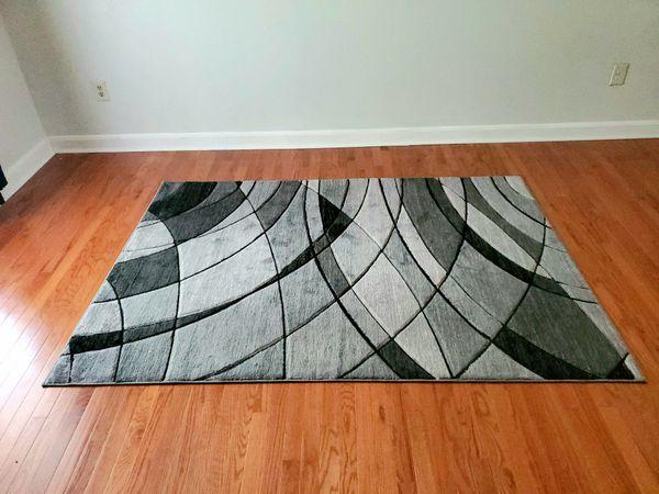 Gray Abstract Area Rug