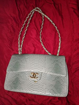 Chanel double flap python bag purse for Sale in Chicago, IL