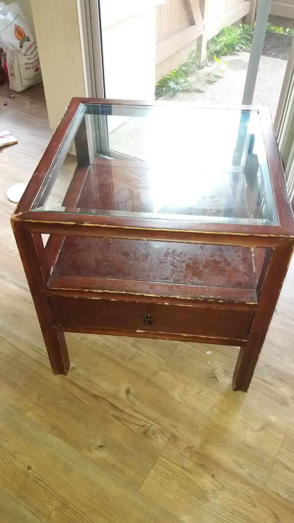 Glass Top Small Table