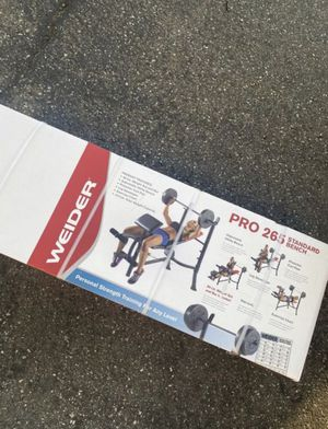 Weider Pro 265 Standard Bench Press for Sale in Buena Park, CA