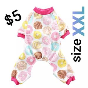 Fitwarm Sweetie Donuts Pet Clothes For Dog Pajamas Soft Cotton Shirts PJS, Pink size XXL for Sale in Los Angeles, CA