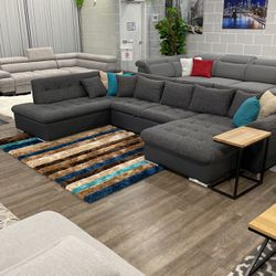 Sectional With Sleeper And Storage Clara for Sale in Elk Grove Village,  IL