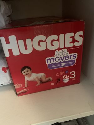 Huggies little movers Size 3..66 count for Sale in Bellflower, CA
