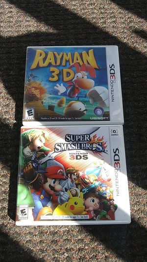Rayman3d &Super Smash bros3ds. for Sale in High Point, NC