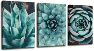 Canvas Wall Art Contemporary Simple Life Blue Agave Succulents Painting Wall Art for Bathroom Wall Decor for Sale in Ontario, CA