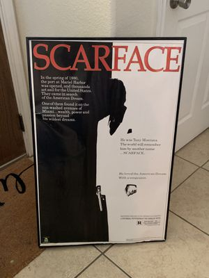 Scarface picture with frame for Sale in Victoria, TX