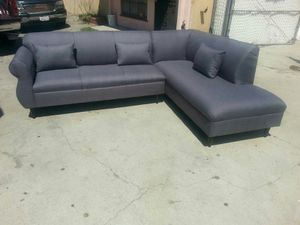 NEW 9X7FT CHARCOAL FABRIC SECTIONAL CHAISE for Sale in West Covina, CA