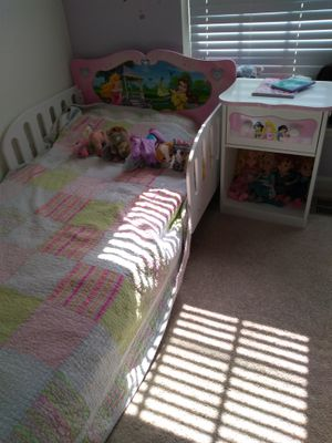 Princess twin bed and nightstand for Sale in Ashburn, VA