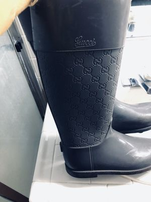 Gucci GG Rain Boots (8) authentic! for Sale in Las Vegas, NV