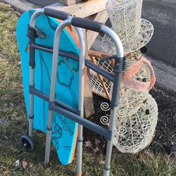 FREE At Curb, Plastic Cart, Walker, Snowman for Sale in Hampton Township,  PA