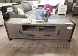 $289 BRAND NEW GREY TV STAND EXTRA LARGE!!!! for Sale in Oviedo, FL