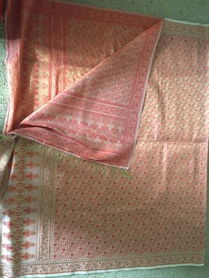Beautiful silk dupatta with fringe border for Sale in Norristown, PA