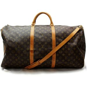 Authentic Louis Vuitton Keepall Bandouliere 60 Monogram M41412 Brown Boston Bag 11368 for Sale in Plano, TX