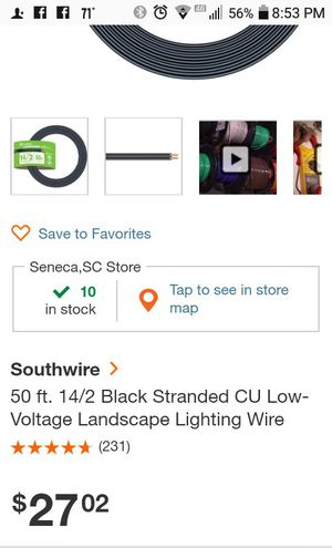 100' & 50' low wattagewire for Sale in Fair Play, SC