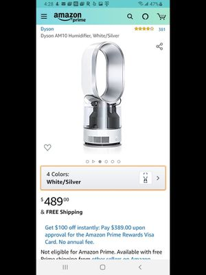 Dyson Humidifier (Kills 99.9% Bacteria) for Sale in San Diego, CA