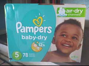 Pampers size 5 78 count for Sale in Austin, TX
