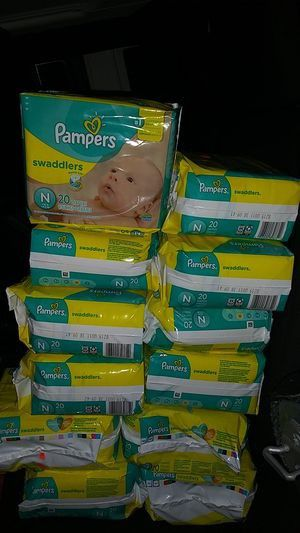 Pampers Swaddlers size Newborn for Sale in Katy, TX