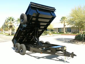 Heavy Duty DUMP TRAILERS 14' x 8.5' x 2' + Tarp + 6' ramps + Spare 14,000 GVWR for Sale in Irvine, CA