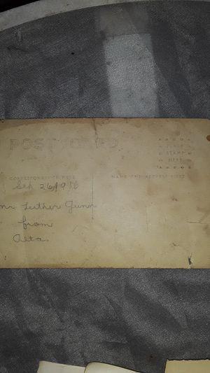 4 train pics 1 postcard Sept 26 1916 for Sale in Westport, WA