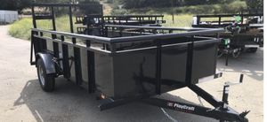 Playcraft 6'x12' heavy duty utility trailer with full size ramp and spare tire for Sale in Diamond Bar, CA