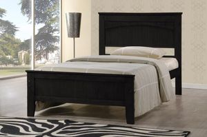 Twin Wooden Platform Bed Frame,Cappuccino, #7579CP for Sale in Santa Fe Springs, CA