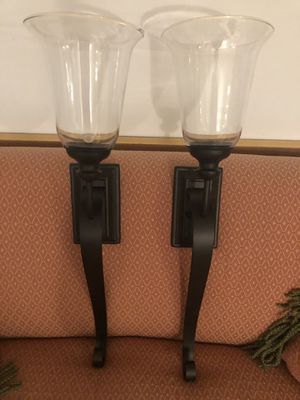 Set of wall sconces. They are not electric, they hold candles. Perfect condition. Never used for Sale in Nokesville, VA