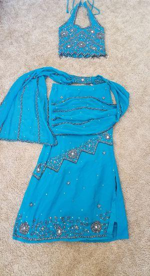 Beaded bead halter skirt dress gown Halloween costume princess jasmine belly dancer for Sale in Tolleson, AZ