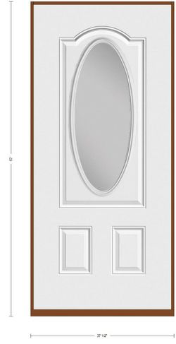 36x80 exterior door 3panel Arch top Oval light for Sale in Dallas,  TX