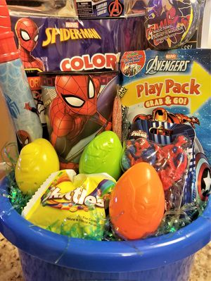Spider - man and Friends Easter Basket - Great super hero basket! for Sale in Fort Washington, MD