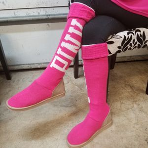 Victoria Secret Hot Pink Sweater Boots, RARE! SZ 9 for Sale in Vancouver, WA