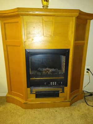 Electric wooden fireplace for Sale in Washington, DC