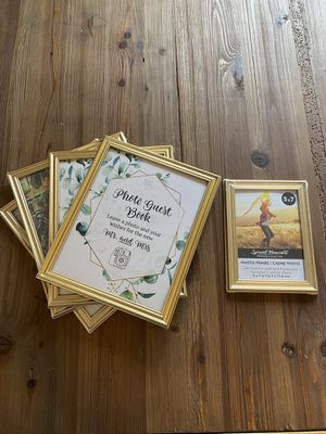 "Gold 8x10"" and one 5x7"" Picture Frames for Wedding Decor for Sale in Redmond, WA"