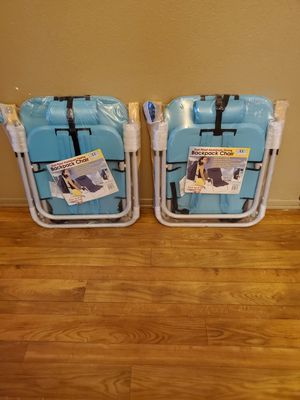 Set of 2 Rio Adventure Backpack Chair Light Blue-New for Sale in Adelanto, CA