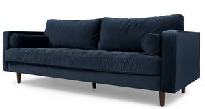3 seater blue velvet sofa and ottoman for Sale in Brooklyn, NY