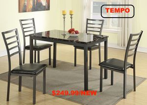 5 PC Marble Top Dining Set for Sale in Fountain Valley, CA