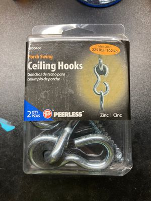 Porch swing ceiling hooks for Sale in Wichita, KS