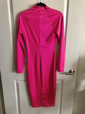 FASHION NOVA hot pink midi dress-size medium, never worn! $23 OBO for Sale in McAllen, TX