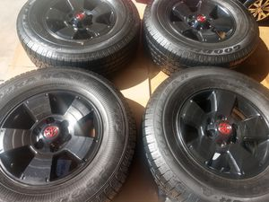 """17"""" Toyota Tacoma wheels.... Goodyear tires 265/70/17 for Sale in Gardena, CA"""