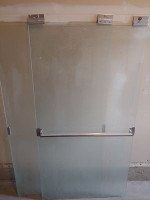 Pair of glass shower doors for Sale in Puyallup, WA