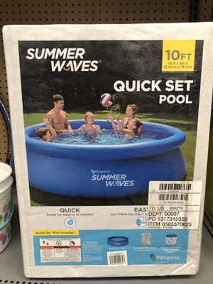 Summer Waves 10ft Quick Set Ring Pool 600 GPH Filter Pump for Sale in Denton, TX