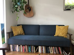Mid-century convertible love seat, futon, sofa for Sale in Encinitas, CA