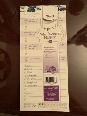 Meal Planning Notepad for Sale in Aurora, CO