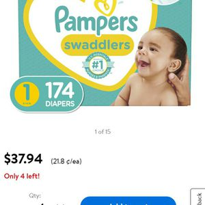 Pampers Swaddlers Size 1 164count. Brand New! for Sale in San Diego, CA