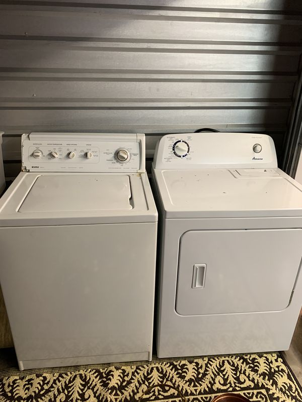Kenmore washer and Amana dryer in good condition