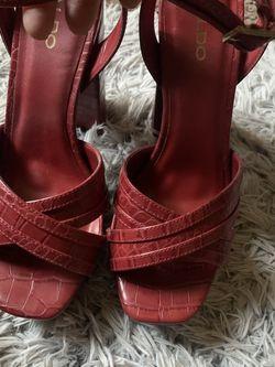 Red Snakeskin leather Opentoe for Sale in Arlington,  VA