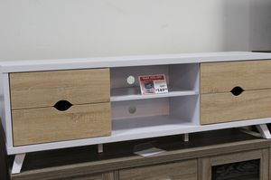 Sophia TV Stand for TVs up to 70 inch, Weathered and White, SKU # 151281 for Sale in Downey, CA