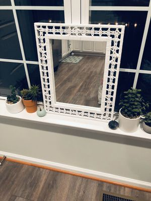 White Wicker/Boho Mirror for Sale in Manassas, VA