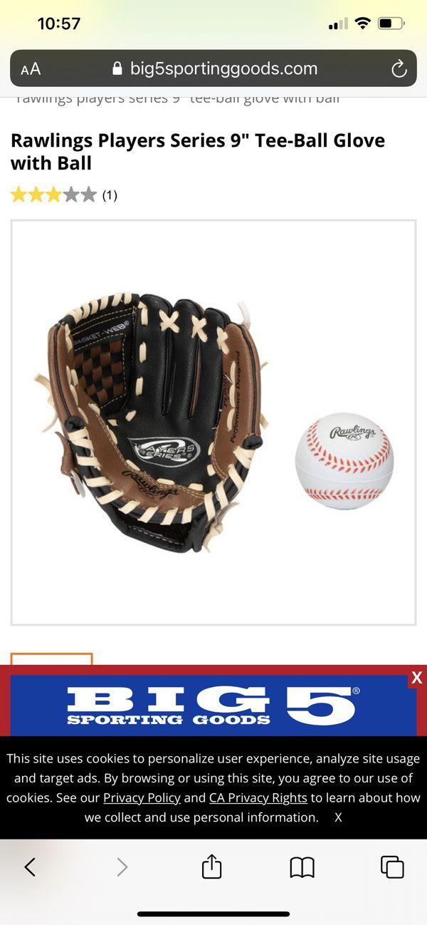 Rawling baseball glove 9 inch left hand