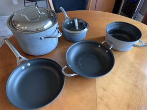 7 piece Calphalon Pots, Pans. Lids for Sale in Columbia, MO